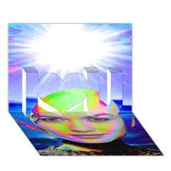 Sunshine Illumination I Love You 3D Greeting Card (7x5)