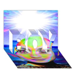 Sunshine Illumination BOY 3D Greeting Card (7x5)