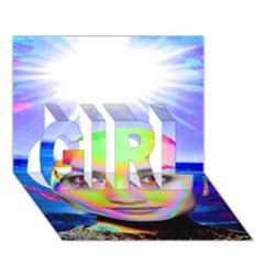 Sunshine Illumination Girl 3d Greeting Card (7x5)