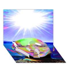 Sunshine Illumination LOVE Bottom 3D Greeting Card (7x5)
