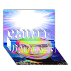 Sunshine Illumination YOU ARE INVITED 3D Greeting Card (7x5)