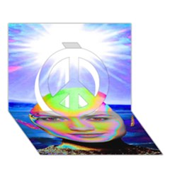 Sunshine Illumination Peace Sign 3D Greeting Card (7x5)