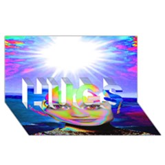 Sunshine Illumination HUGS 3D Greeting Card (8x4)