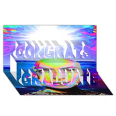 Sunshine Illumination Congrats Graduate 3d Greeting Card (8x4)