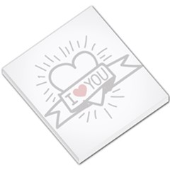 I Love You Small Memo Pad