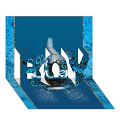 Surf, Surfboard With Water Drops On Blue Background BOY 3D Greeting Card (7x5)