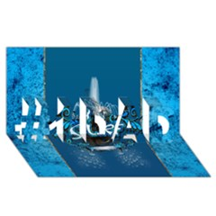 Surf, Surfboard With Water Drops On Blue Background #1 DAD 3D Greeting Card (8x4)