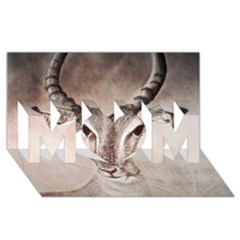 Antelope horns MOM 3D Greeting Card (8x4)