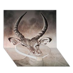 Antelope horns Heart Bottom 3D Greeting Card (7x5)