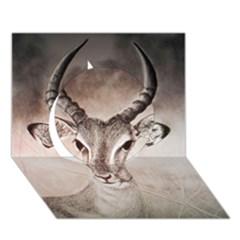Antelope horns Circle 3D Greeting Card (7x5)