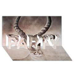 Antelope horns PARTY 3D Greeting Card (8x4)