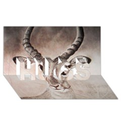 Antelope horns HUGS 3D Greeting Card (8x4)