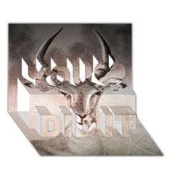 Antelope Horns You Did It 3d Greeting Card (7x5)