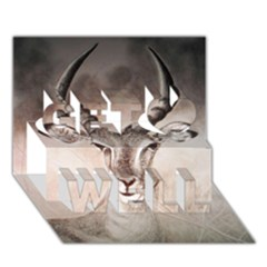 Antelope Horns Get Well 3d Greeting Card (7x5)