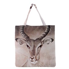 Antelope horns Grocery Tote Bags