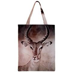 Antelope horns Zipper Classic Tote Bags