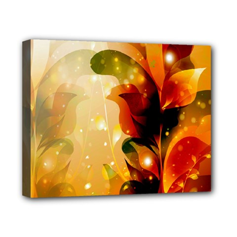 Awesome Colorful, Glowing Leaves  Canvas 10  x 8