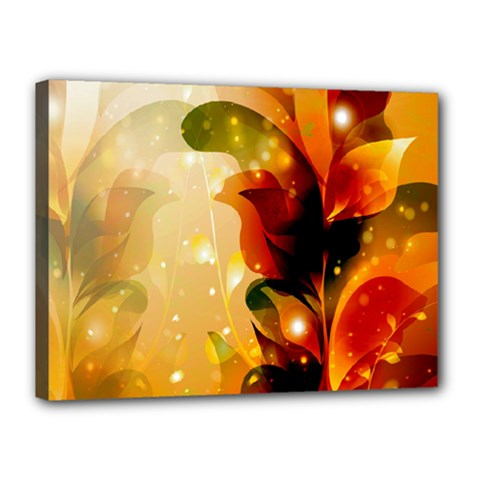 Awesome Colorful, Glowing Leaves  Canvas 16  x 12