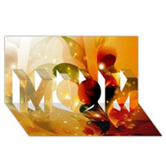 Awesome Colorful, Glowing Leaves  MOM 3D Greeting Card (8x4)