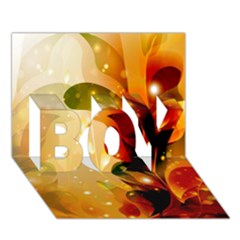 Awesome Colorful, Glowing Leaves  BOY 3D Greeting Card (7x5)