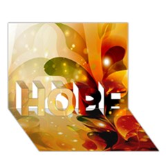 Awesome Colorful, Glowing Leaves  HOPE 3D Greeting Card (7x5)