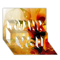 Awesome Colorful, Glowing Leaves  Thank You 3d Greeting Card (7x5)