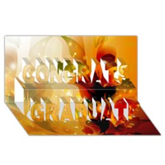 Awesome Colorful, Glowing Leaves  Congrats Graduate 3d Greeting Card (8x4)