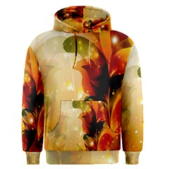 Awesome Colorful, Glowing Leaves  Men s Pullover Hoodies