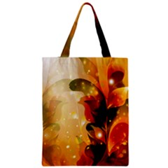 Awesome Colorful, Glowing Leaves  Zipper Classic Tote Bags