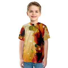Awesome Colorful, Glowing Leaves  Kid s Sport Mesh Tees