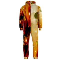 Awesome Colorful, Glowing Leaves  Hooded Jumpsuit (Men)