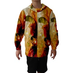 Awesome Colorful, Glowing Leaves  Hooded Wind Breaker (kids)