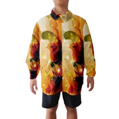 Awesome Colorful, Glowing Leaves  Wind Breaker (kids)