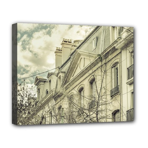 Neoclassical Style Buildings In Buenos Aires Argentina Deluxe Canvas 20  x 16