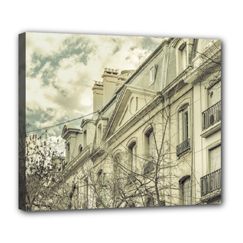 Neoclassical Style Buildings In Buenos Aires Argentina Deluxe Canvas 24  x 20