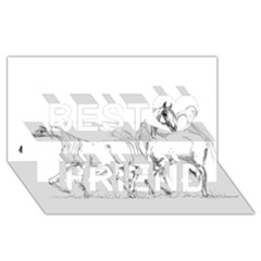 Logosquare Best Friends 3D Greeting Card (8x4)