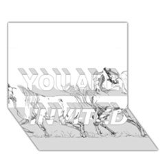 Logosquare You Are Invited 3d Greeting Card (7x5)