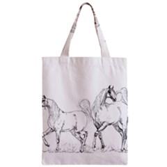 Logosquare Zipper Classic Tote Bags