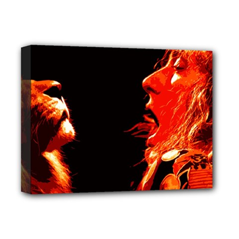 Robert And The Lion Deluxe Canvas 16  x 12