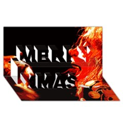 Robert And The Lion Merry Xmas 3d Greeting Card (8x4)