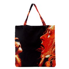 Robert And The Lion Grocery Tote Bags