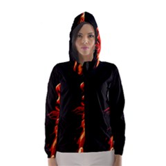 Robert And The Lion Hooded Wind Breaker (women)