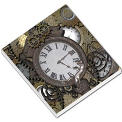 Steampunk, Awesome Clocks With Gears, Can You See The Cute Gescko Small Memo Pads
