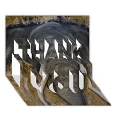 In the Mist THANK YOU 3D Greeting Card (7x5)