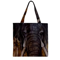 In the Mist Zipper Grocery Tote Bags