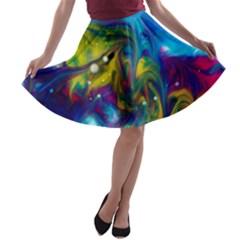 the mocking of chance A-line Skater Skirt