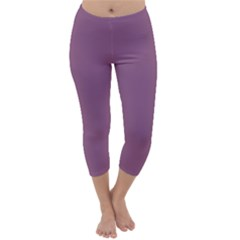 Purple Capri Winter Leggings