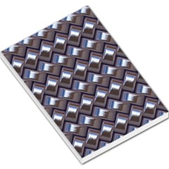 Metal Weave Blue Large Memo Pads