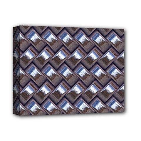 Metal Weave Blue Deluxe Canvas 14  x 11