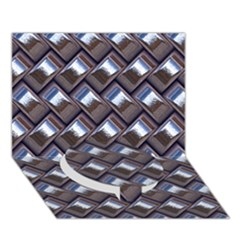 Metal Weave Blue Circle Bottom 3D Greeting Card (7x5)